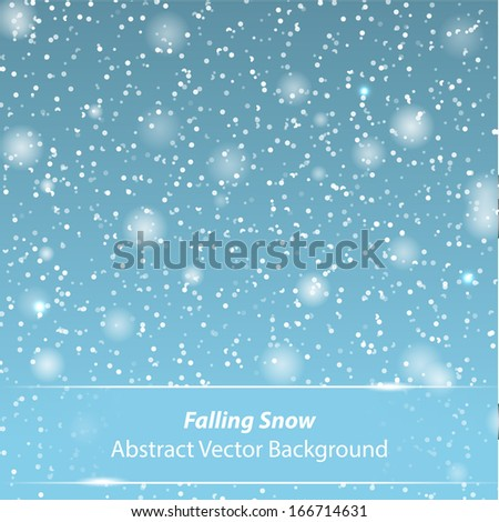 Falling snow vector background for Your own design - stock vector