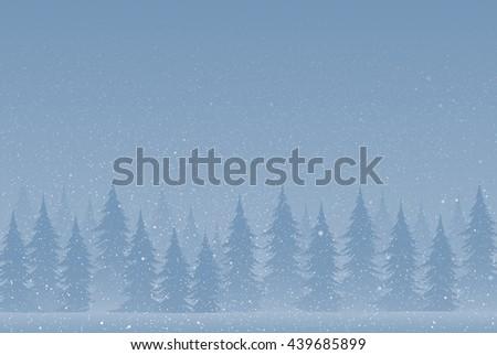 Falling snow vector. White splash on blue background. Winter snowfall hand drawn spray texture. - stock vector