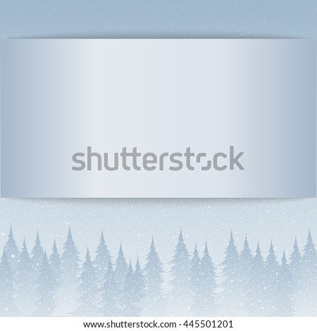 Falling snow vector. White splash on blue background. Winter snowfall hand drawn spray texture. Empty card with shadow for web, banner, invitation, leaflet and so on. Mock up. Card. Eps 10. - stock vector