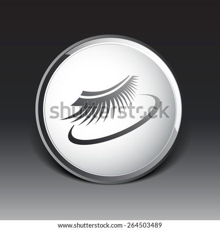 False lashes isolated eyelash fake eye woman up girl close. - stock vector