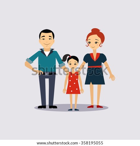 Family and Education Insurance Colourful Vector Illustration - stock vector