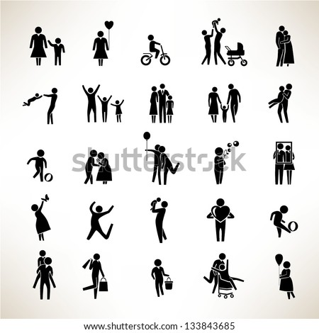 family and happiness - stock vector
