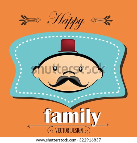 Family And Home Design, Vector Illustration Eps 10