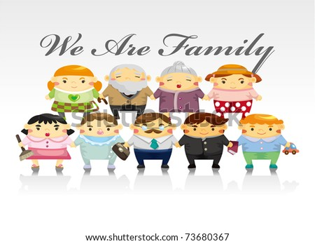 family card - stock vector
