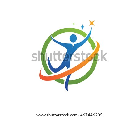 Family care protection symbol icon logo design template