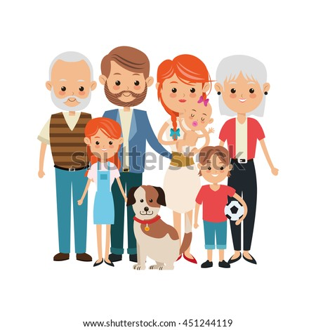 family cartoon stock images royaltyfree images amp vectors