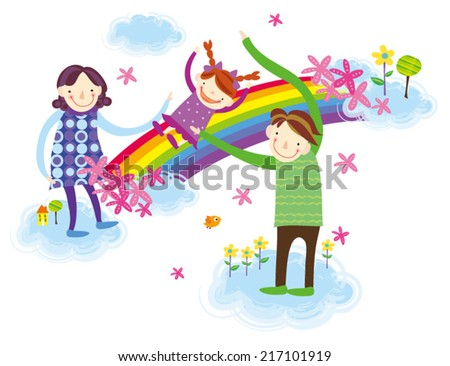 Family day. Happy family outing, family day! - stock vector