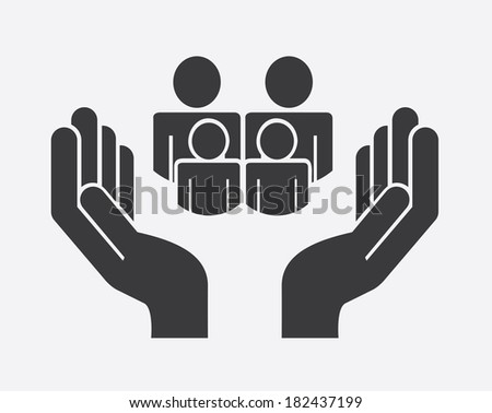 Family design over gray background, vector illustration - stock vector