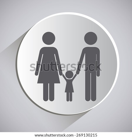 Family design over grey background, vector illustration