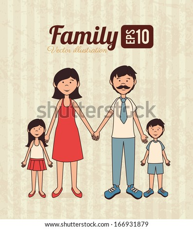 family design over lineal background vector illustration   - stock vector