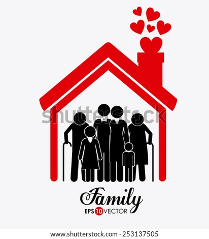 Family design over white background, vector illustration. - stock vector
