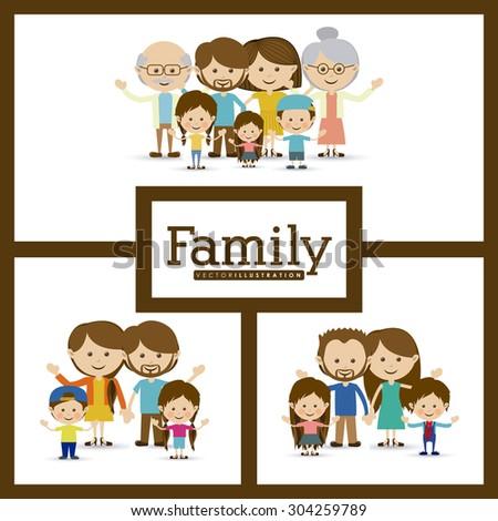 Family design, vector illustration eps 10 - stock vector