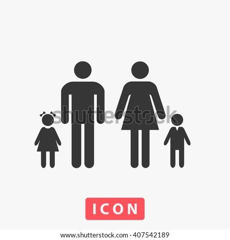 family. family Icon, family Icon Vector, family Icon Art, family Icon eps, family Icon Image, family Icon logo, family Icon Sign, family icon Flat, family Icon design, family icon app, family icon UI - stock vector