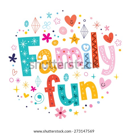 Family fun - stock vector