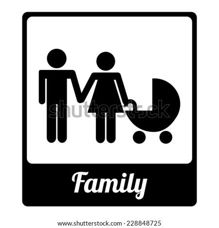 family graphic design , vector illustration - stock vector