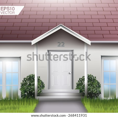 Family house entrance. Detailed vector illustration - stock vector