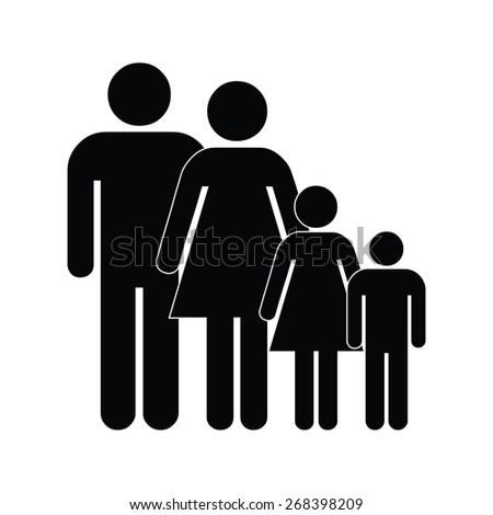 Family icon - stock vector