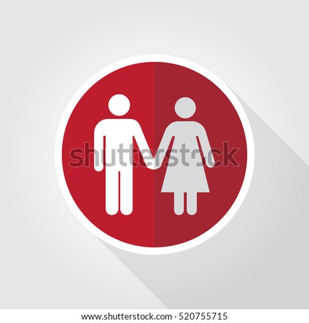Family Icon Design Template. Couple Man and Woman