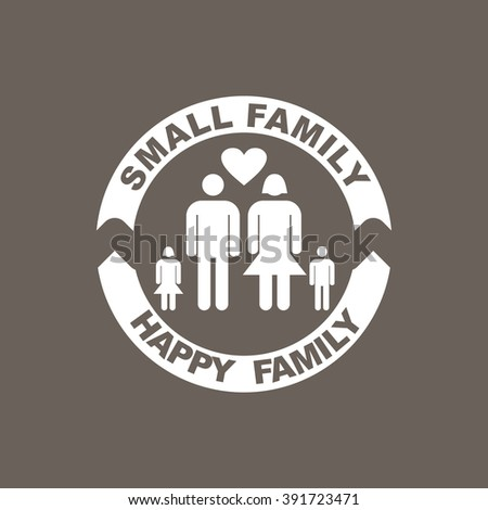 Family Icon on Dark Gray Color. Eps-10. - stock vector