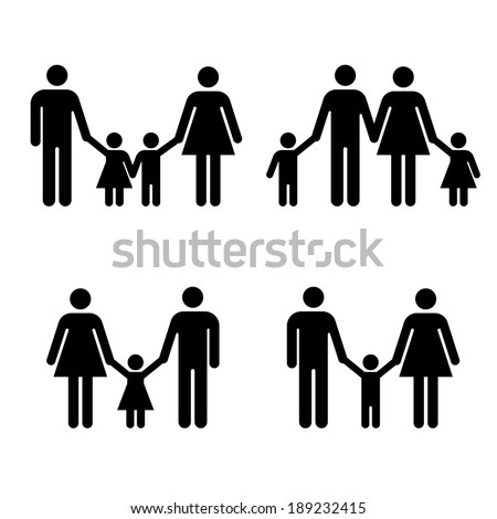 Family Icon- Vector - stock vector