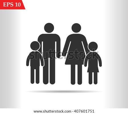 family Icon.Vector illustration - stock vector
