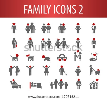 Family Icons 2. - stock vector