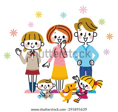 Family illustration - stock vector