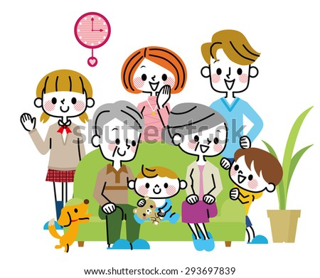 Family illustrations - stock vector