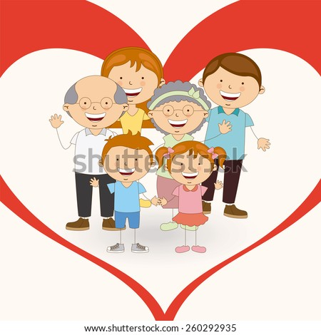family love design, vector illustration eps10 graphic  - stock vector