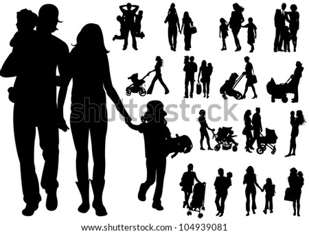Family people - stock vector