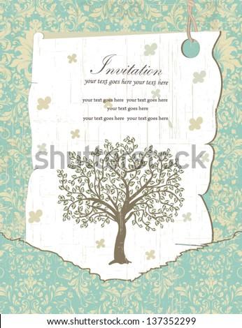 Family Reunion Invitation Card - stock vector