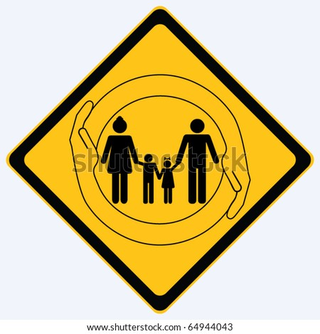 family sign vector - stock vector