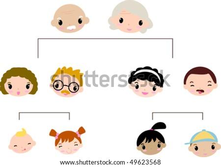 family tree - stock vector