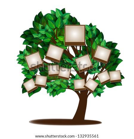 Family Tree Design Template Stock Vector 132935561 Shutterstock