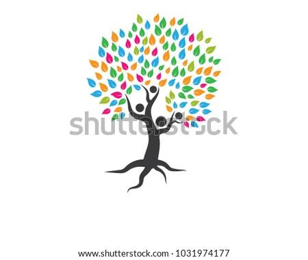 Family Tree Logo Template Stock Vector 1031974177 Shutterstock