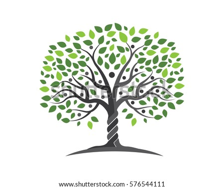 Family Tree Symbol Icon Logo Design Stock Vector 576544111