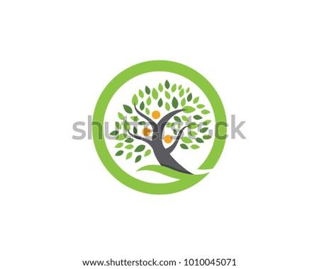 Family Tree Symbol Icon Logo Design Stock Vector 1010045071