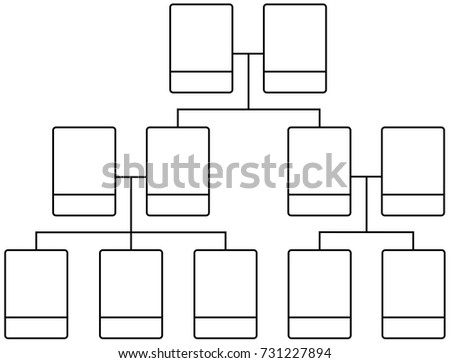 Family Tree Team Structure Blank Template Stock Vector