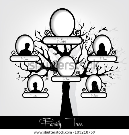 Family tree,Vector Illustration - stock vector