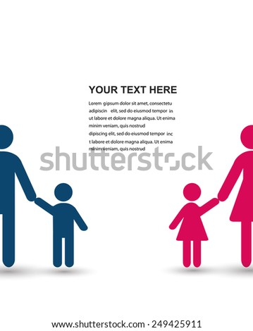 Family. Vector illustration with place for text.  - stock vector