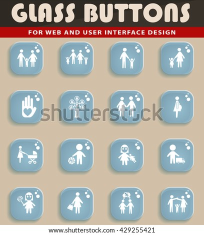 family web icons for user interface design