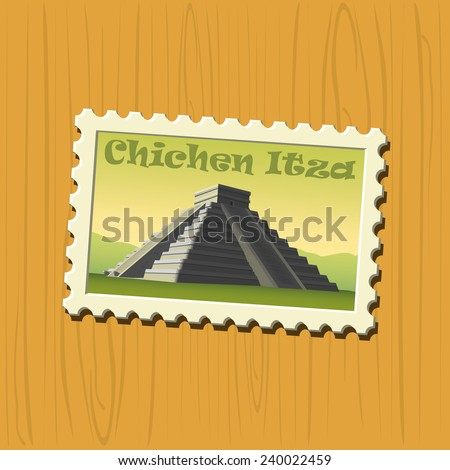 Famous destination stamps - Mexico - stock vector