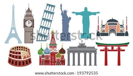 Famous landmarks - stock vector