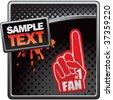 fan hand on classy modern style grunge template - stock vector
