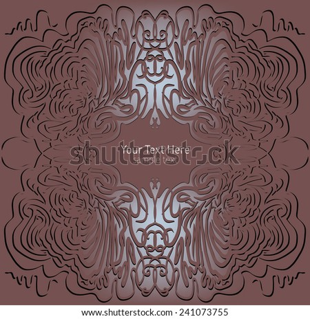 fancy background set - stock vector