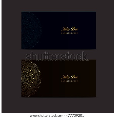 Fancy business card template vector illustration