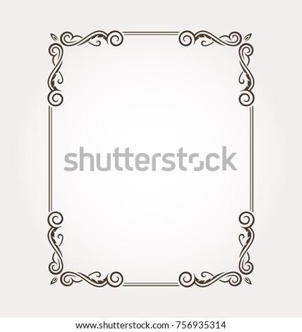 fancy frame border. Fancy Frame Border Floral Ornament Decorative Stock Vector 756935314 - Shutterstock L