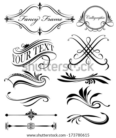 Fancy Lines and borders - stock vector