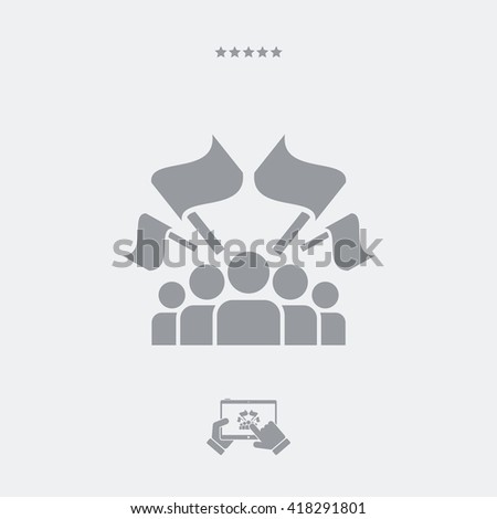 Fans crowd flat icon - stock vector
