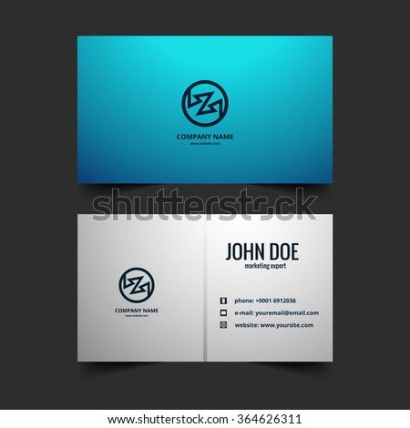 Fantastic modern visiting card design vector - stock vector